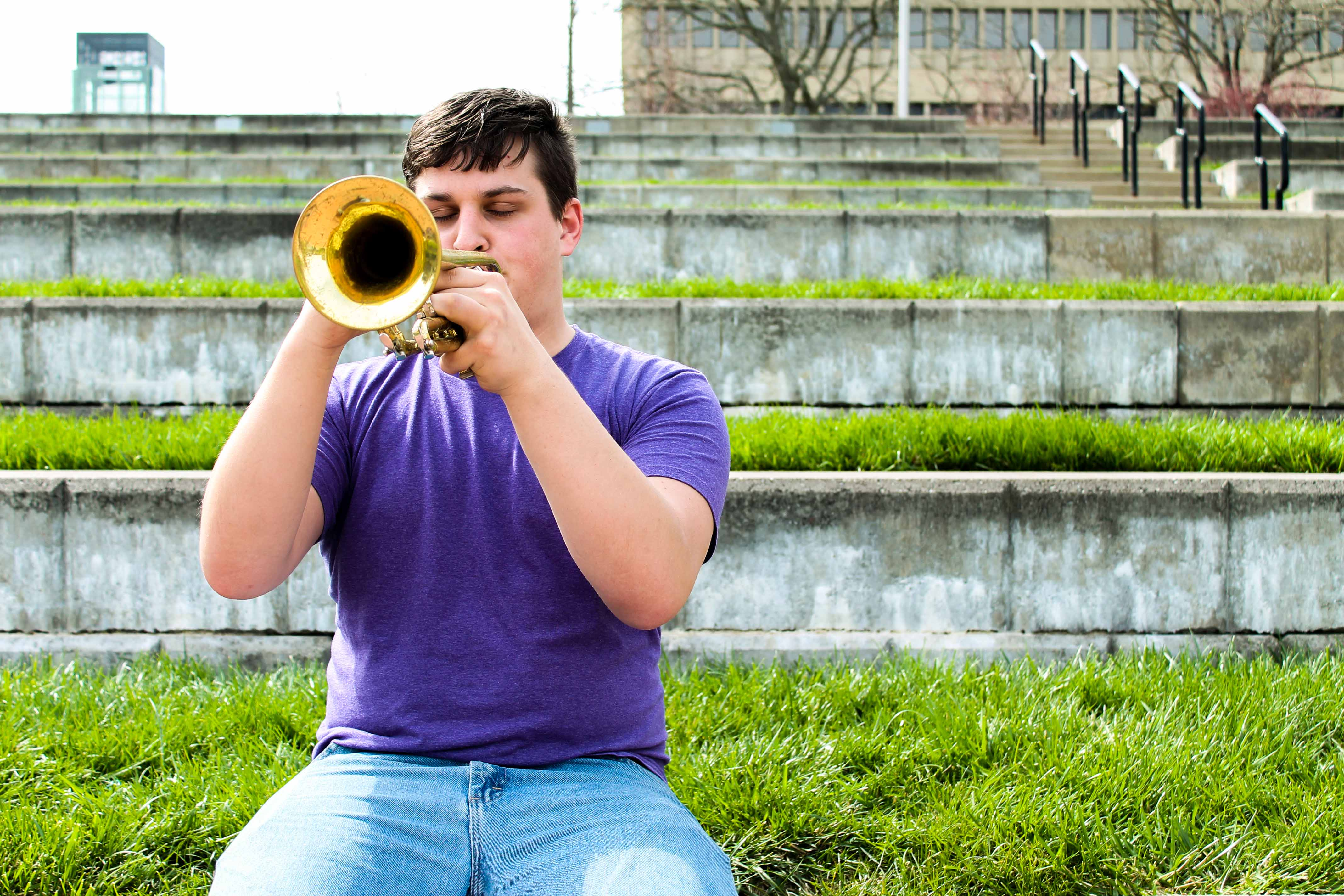 It took Michael Foley around two to three days to play small sections of songs on the trumpet. After about a week he could play about half a song.