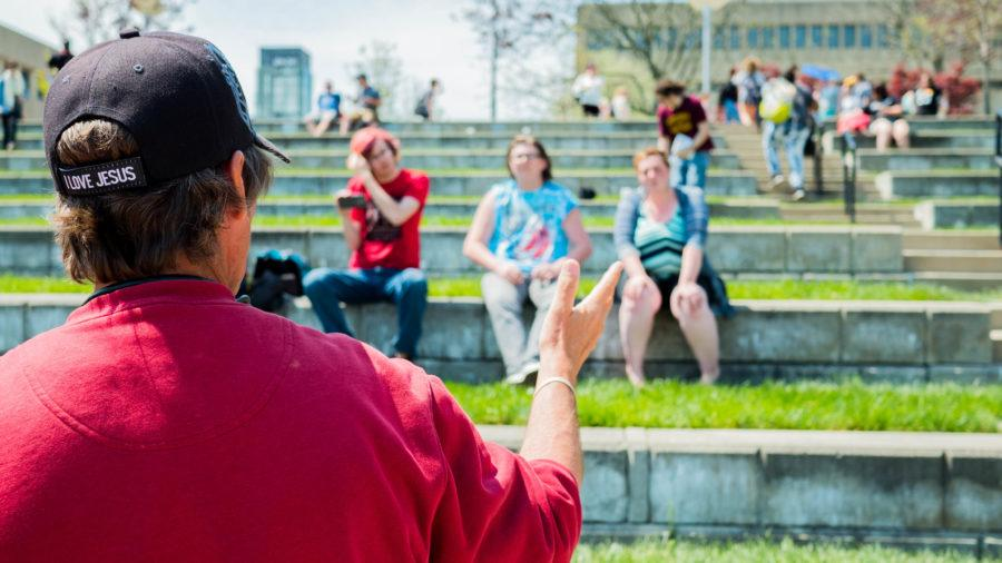Street preachers are common characters on college campuses. Annually, especially as the weather warms, they visit NKU.