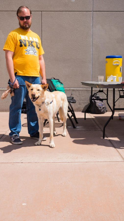 Along with coffee, the organization  trying to promote peace  and negate the influence of the preachers, brought along a dog. The dog was a mix breed of German Shepard, Siberian Husky and Labrador Retriever.