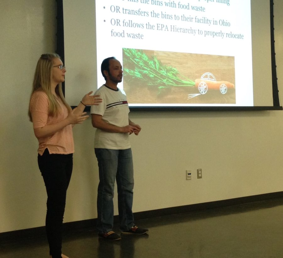 "Megan Clere and Abdulrazaq Alreshaidan present ""The Diversion of Food Waste,"" which is aimed out getting more students aware of the impacts of wasting food."