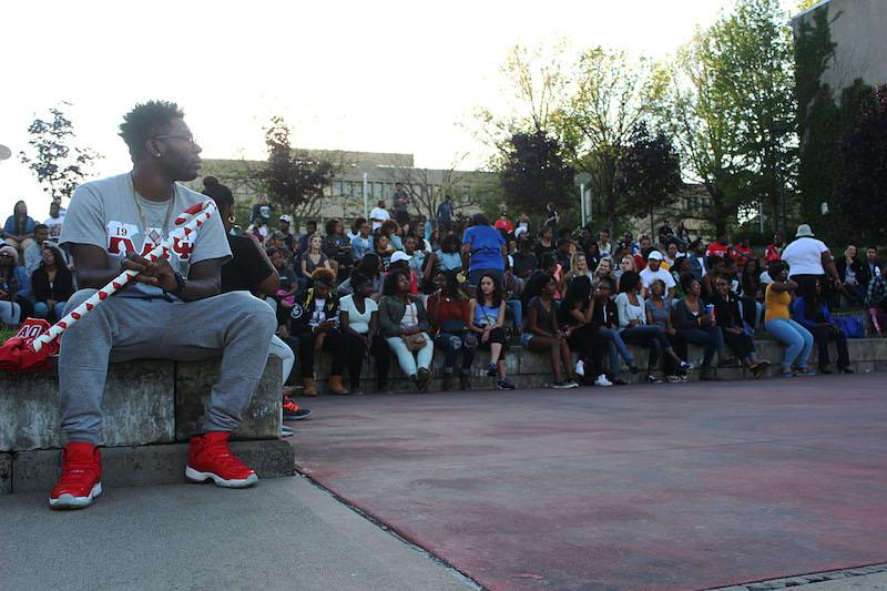 University of Cincinnati Kappa Alpha Psi Fraternity member and audience anticipate the first performance of the night