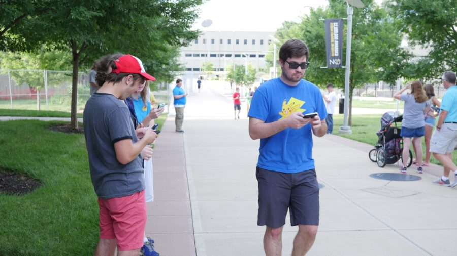 Over 1,000 people joined and battled Pokemon forces Tuesday evening on NKU's campus.