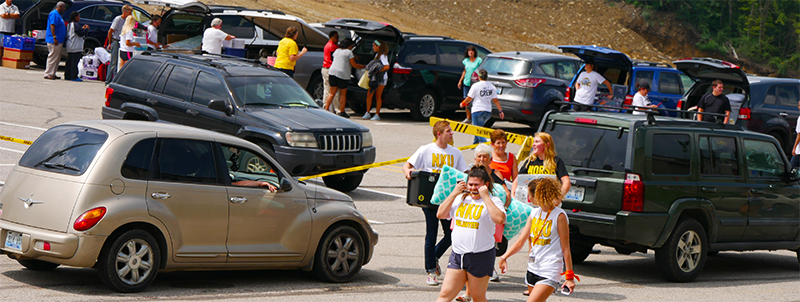 Students moved into their dorms on Thursday to kick off Welcome Week.