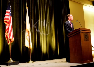 Mearns addressed the NKU community before the start of the new fall semester. The convocation speech took place on Aug. 19.