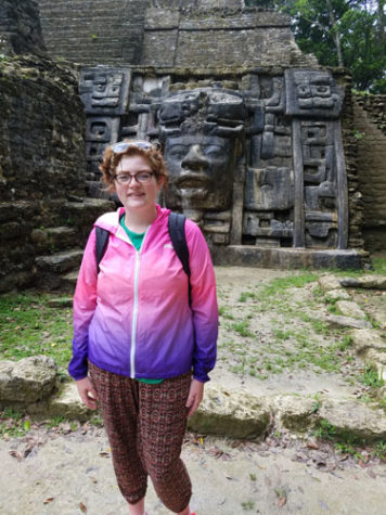 Emily Fox, a senior anthropology major, studied in Belize for a month over the summer.