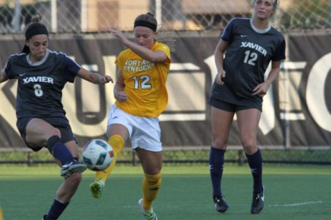 Jessica Frey had five shots against Xavier. The Norse lost 2-1.