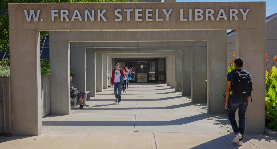 Here is a photo of Steely Library. This photo has been used quite a bit in The Northerner.