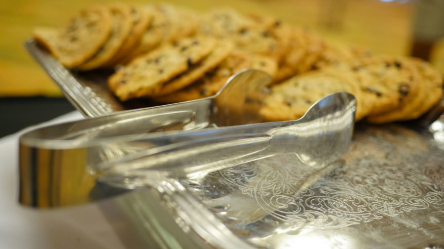 The Study Abroad fair took place in the SU ballroom. Refreshments and cookies were served to students in attendance.