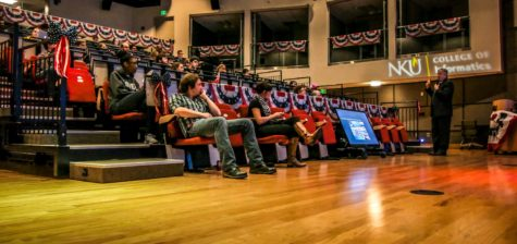 Students, faculty and staff tuned in to the final presidential debate Wednesday night in the digitorium.