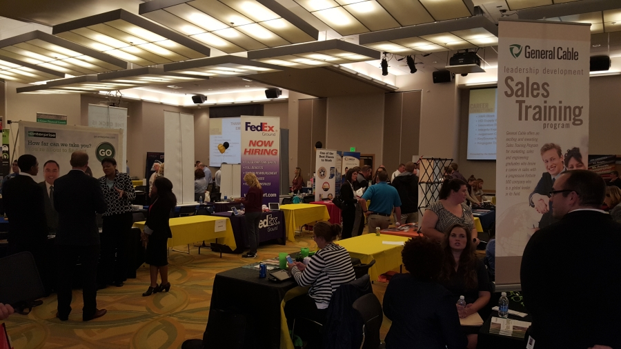 Picture above is a previous career event at NKU. The NKU Career Expo is Wednesday in the SU Ballroom.