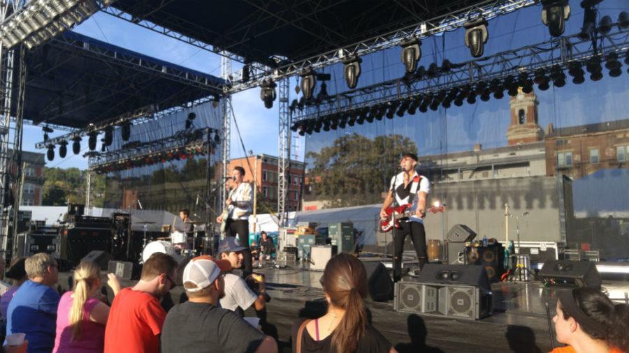 Cincinnati, Ohio based PUBLIC is a pop/rock trio of three men, who was rocking the crowd.