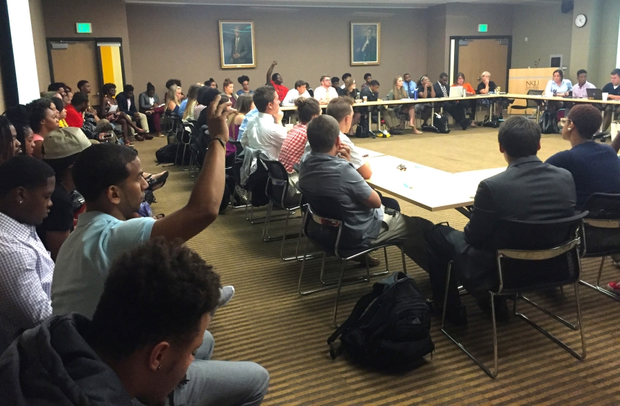 Guests filled the room of SGA's meeting on September 19. Issues of racial and cultural diversity, as well as inclusion, were discussed.