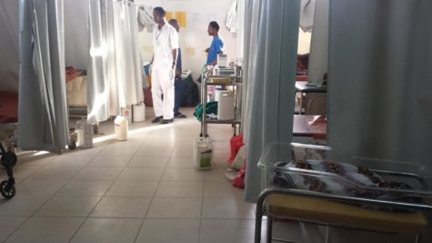 The Sinza Community Hospital delivery unit consisted of 10 open bedrooms.