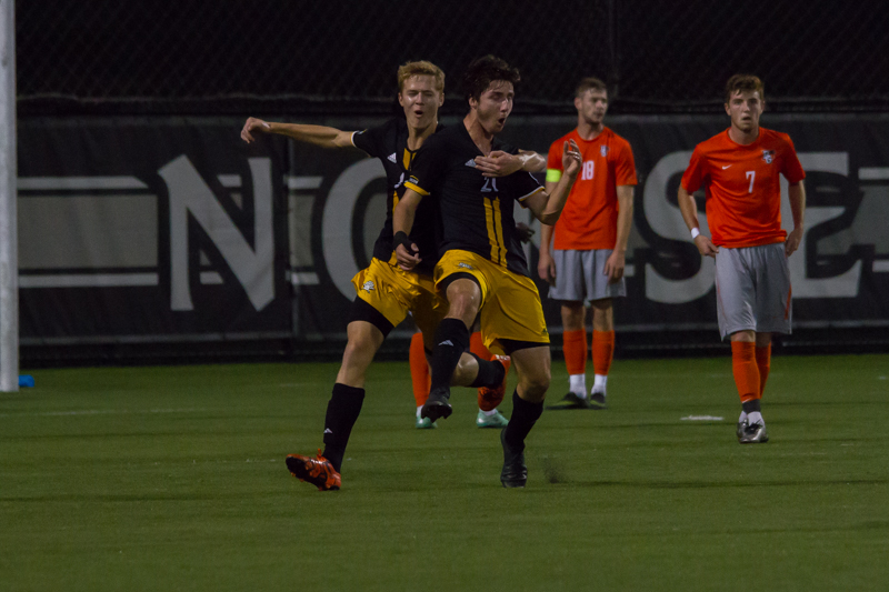 Campbell+Morris+celebrates+after+scoring+the+only+Norse+goal+in+a+2-1+loss.