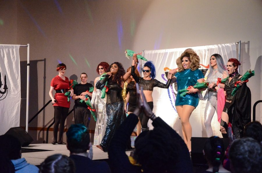 The drag show was put together by Common Ground, and organization that brings together LGBTQA+ individuals for support.