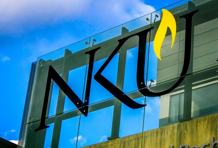 NKU's logo above the Student Union