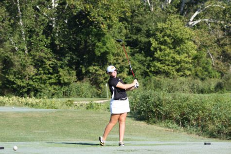 Ryleigh Waltz broke a school record for a single round, scoring a 71 in the Cardinal Classic