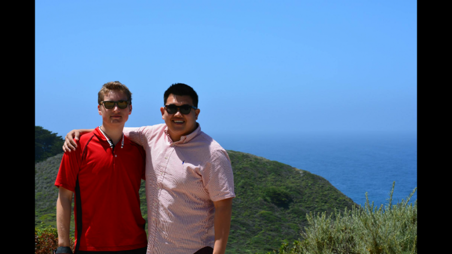 Left to right: Will Huber and Justin Schmitt on their trip to California.
