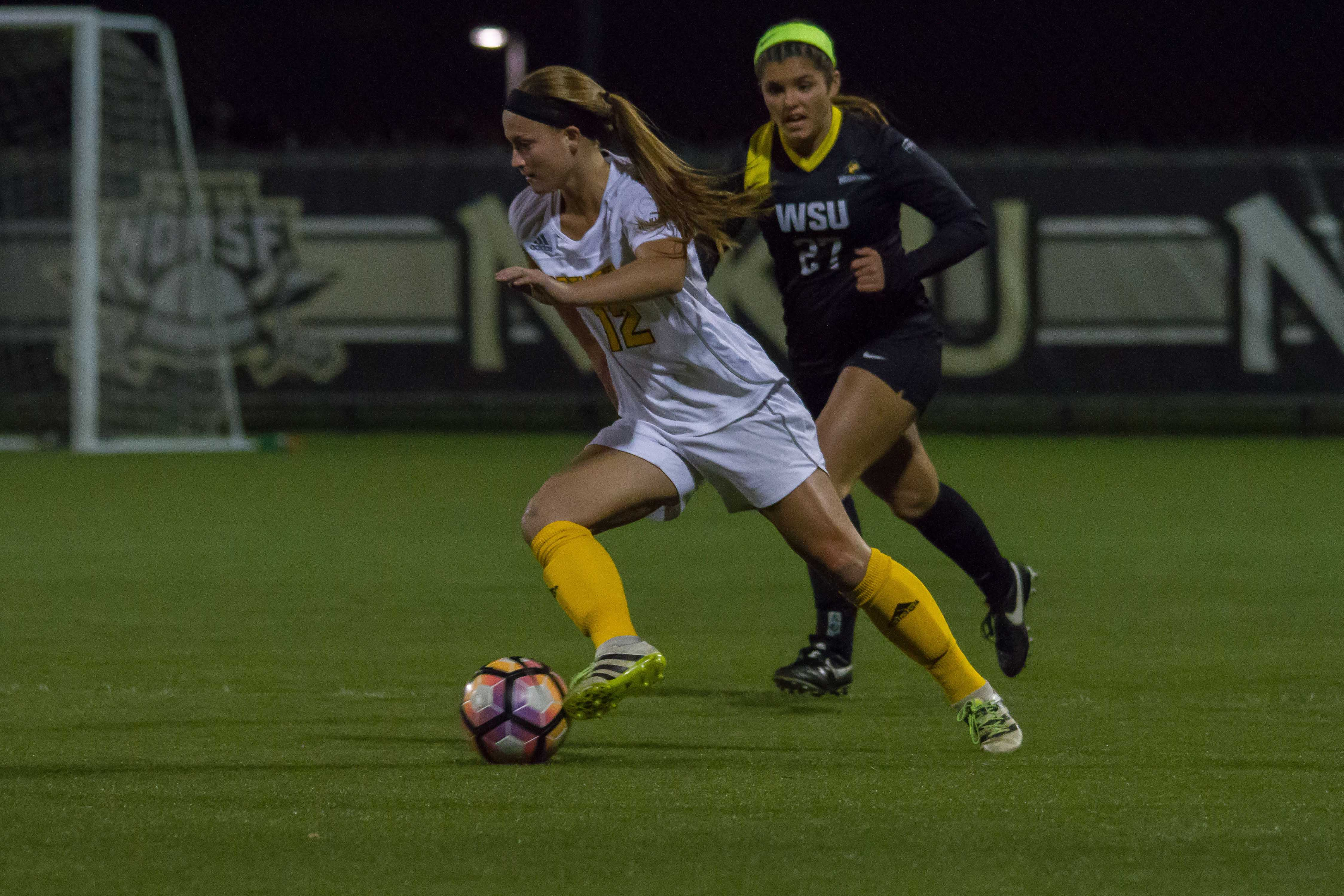 Jessica Frey scored the game winning goal in the 1-0 victory against Wright State in the Horizon League playoffs