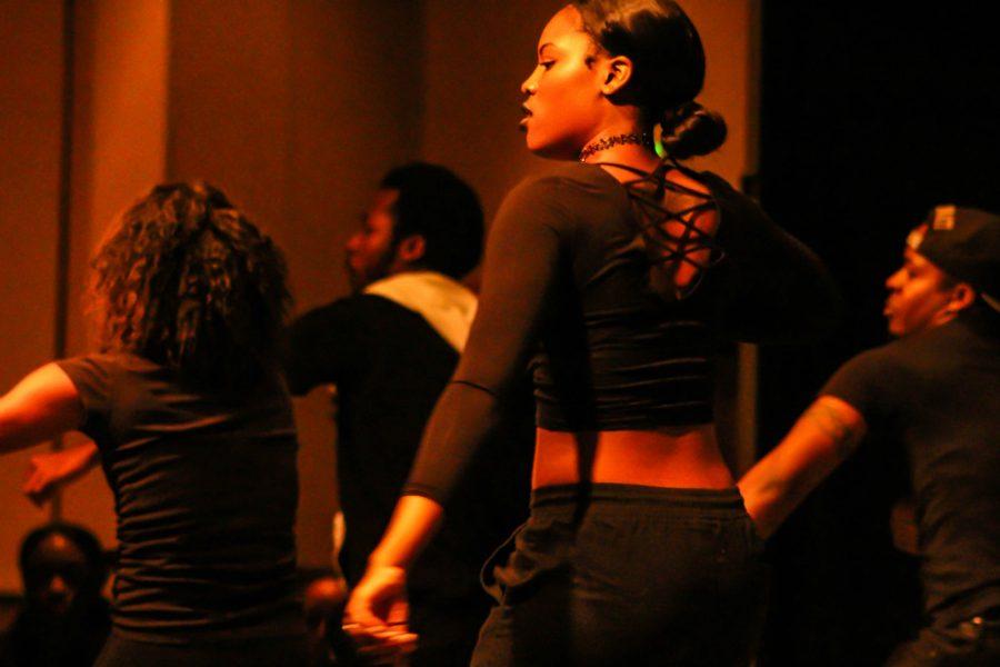 NKU's hip-hop dance team Envy performed halfway through the event.