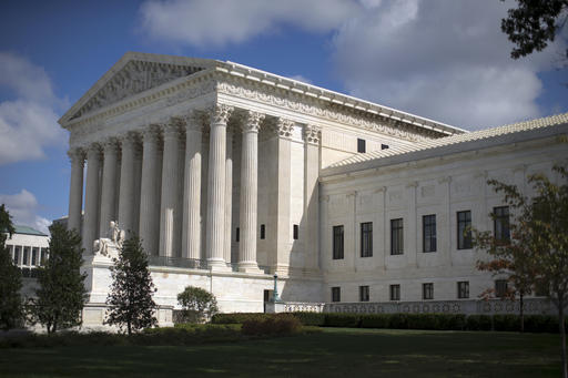 FILE - In this Oct. 5, 2015 file photo, the Supreme Court is seen in Washington.  (AP Photo/Carolyn Kaster, File)