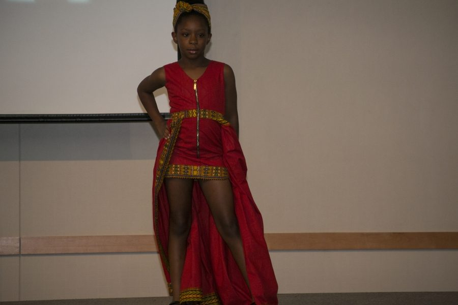 During the African culture section of the night, younger models took the stage. The ethnic African dresses were made by Endexus Designs.