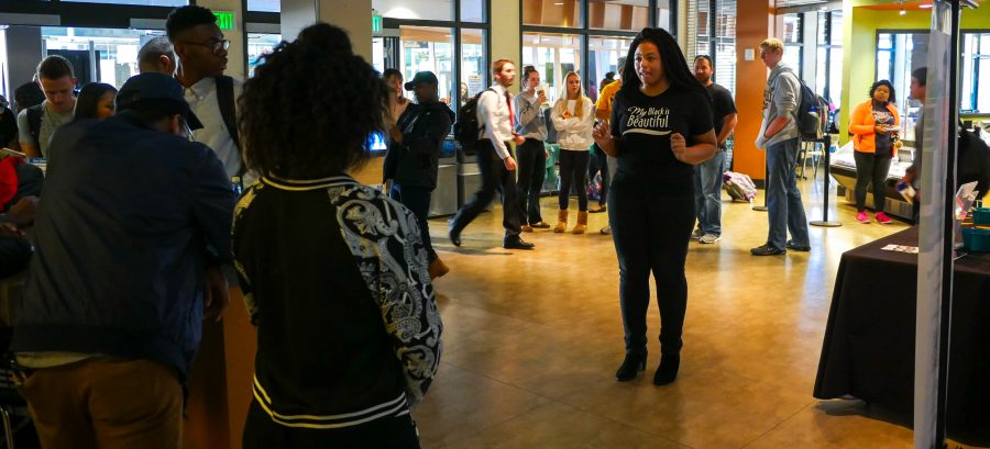 Spoken word, in Andrews word, is the best way to express yourself. Tiara Atwater lent her own spoken word performance to the demonstration.
