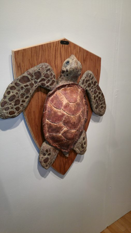 Benny Poynter created replicas of endangered species for his final exhibition.