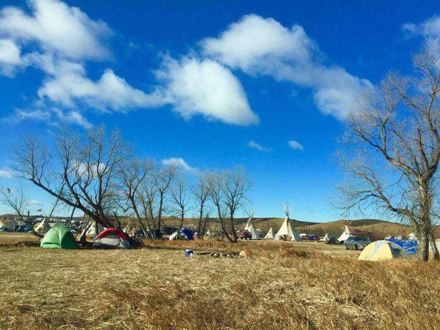 The sun shone down on Oceti Sakowin, but temperatures still dropped to the single digits.