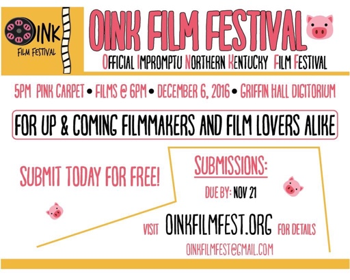 The OINK Film Festival, created by students, takes place 5 p.m. Tuesday in the Griffin Hall Digitorium.