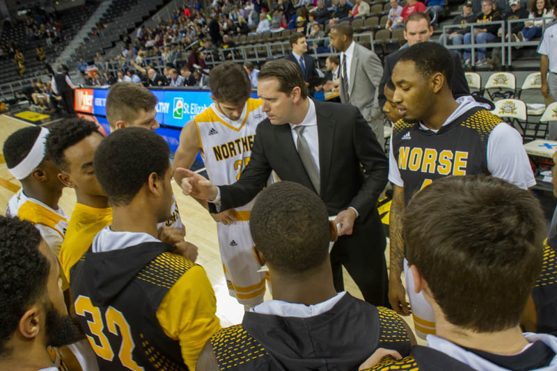 John Brannen coaches up his team prior to Friday's game against Oakland.