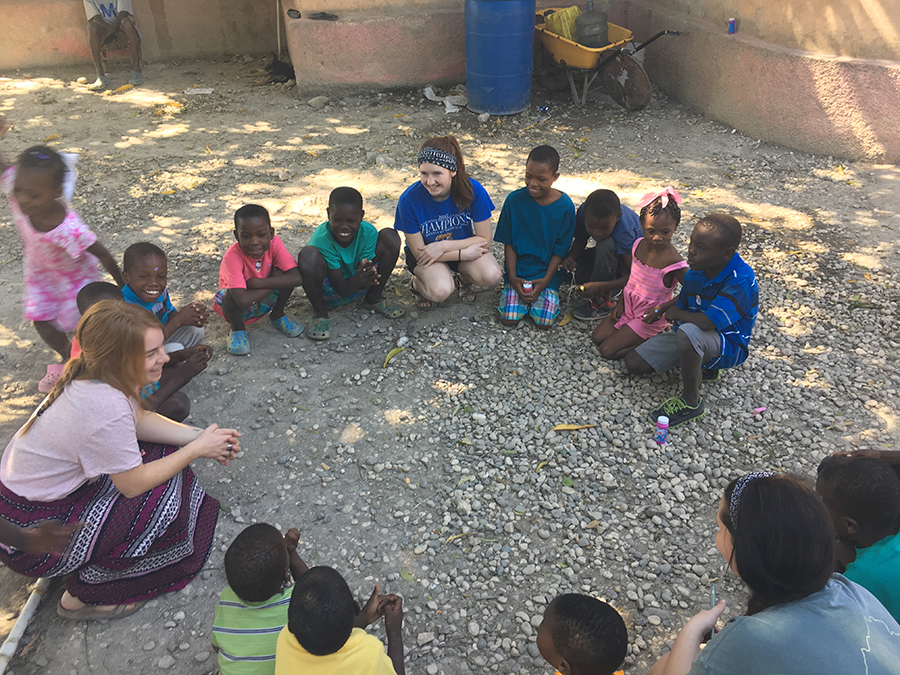 Turner hopes to use her education background to be a teacher in Haiti.