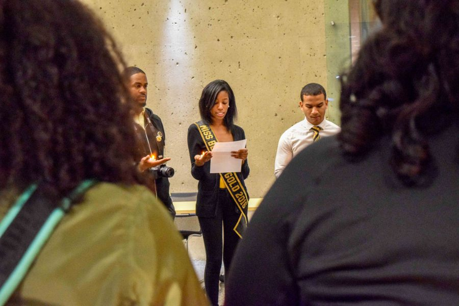 Students were asked to take a moment of silence in Dr. Martin Luther King Jr's honor.