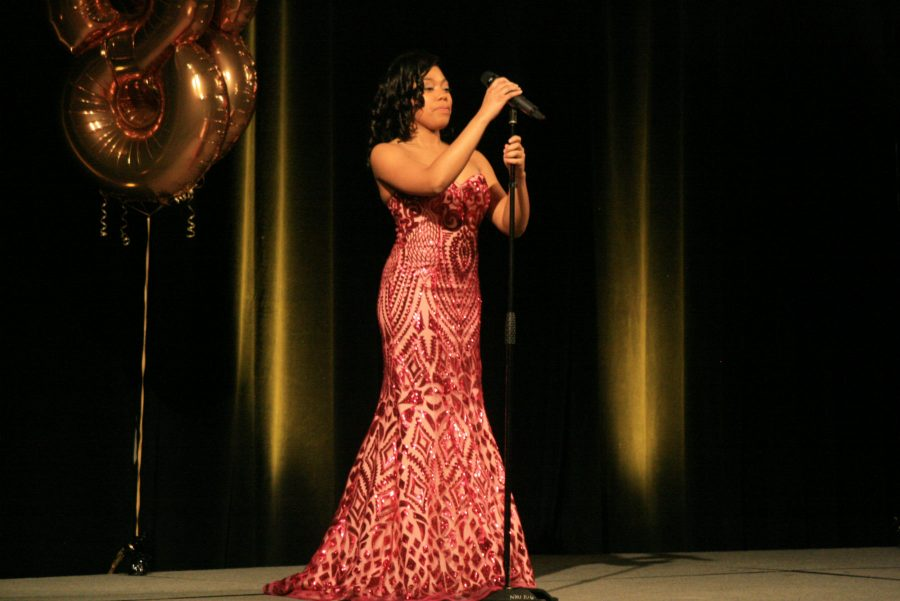 Contestant 1, Tamera Camp, Evening Gown.