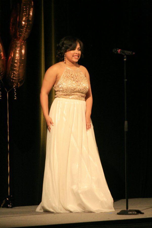 Contestant 2, Janiah Miller, Evening Gown.