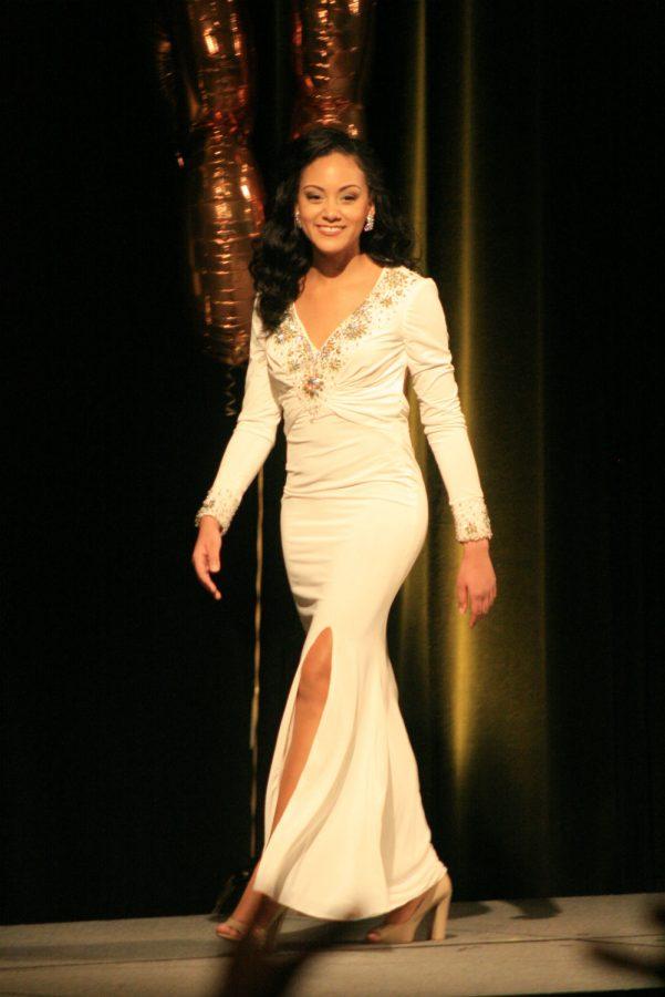 Contestant 3, Skyler Faulkner, Evening Gown.