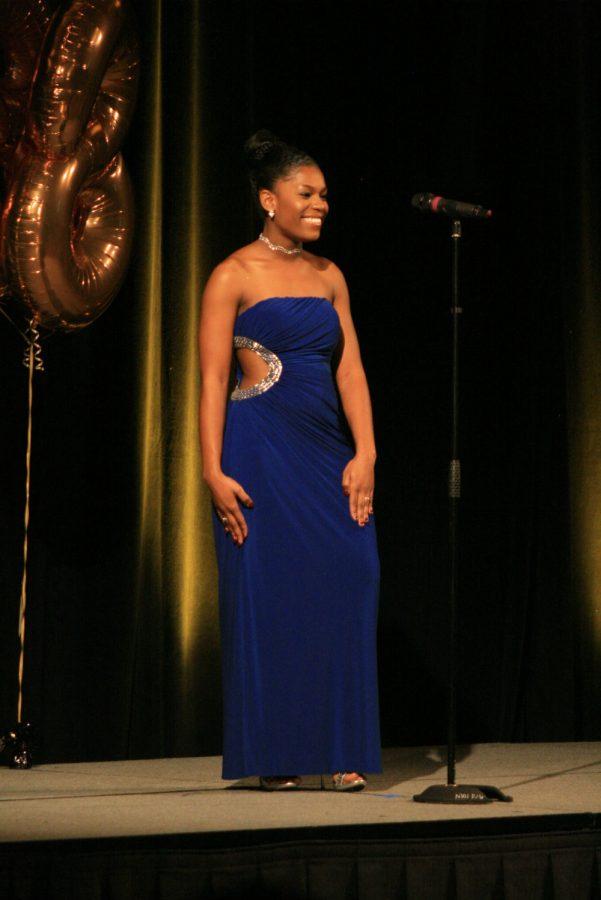 Contestant 4, Destinee Jones, Evening Gown.