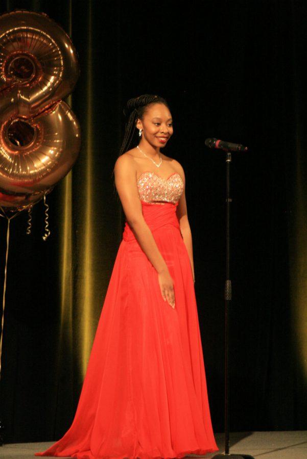 Contestant 7, Sierra Newton, Evening Gown.