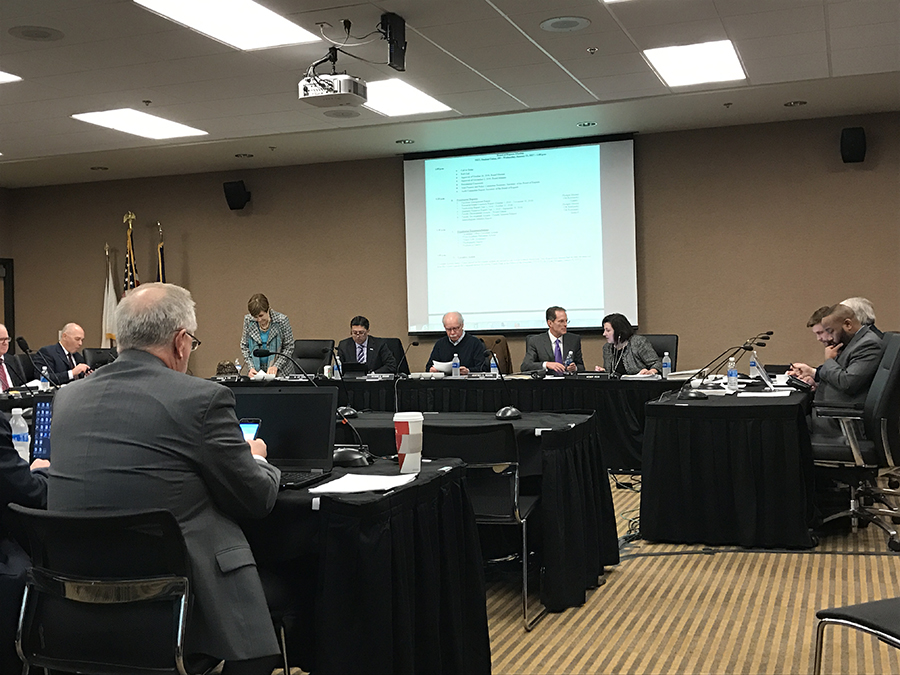 The Board of Regents met to discuss a range of topics, including a dip in enrollment rates, sabbatical leave and introducing a new secretary to the board.