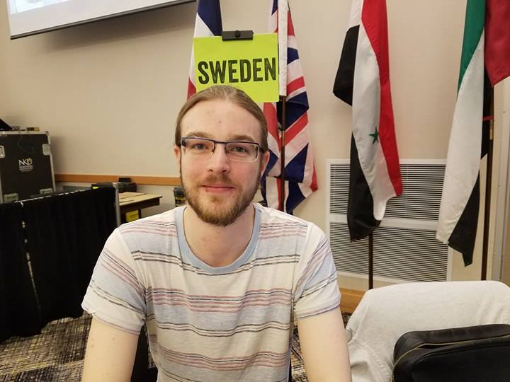 Daniel Kjellberg, student volunteer for Study Abroad Fair, encourages everyone to experience different cultures.