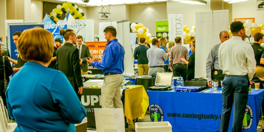 Students filled the Student Union Ballroom at the Career Expo.