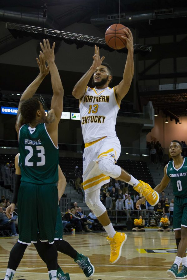NKU's Brennan Gillis (13) had 10 points and four rebounds Thursday in NKU's win over Green Bay.