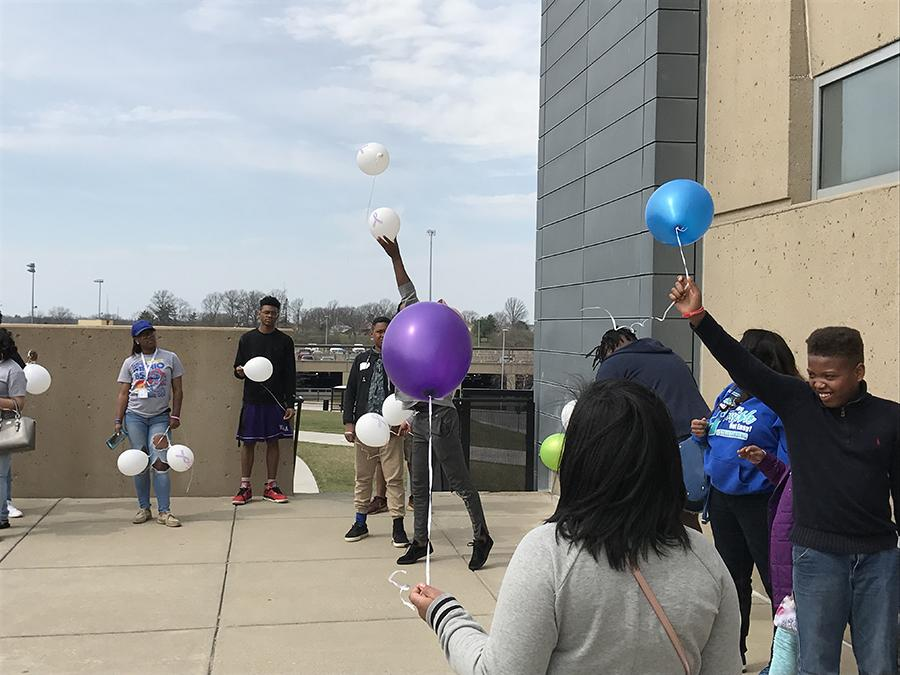 One by one participants released their balloons honoring a loved one who had been affected by cancer.