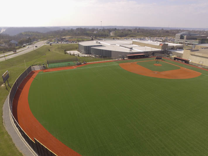 The new turf outfield will allow the Norse to host high school events as well.