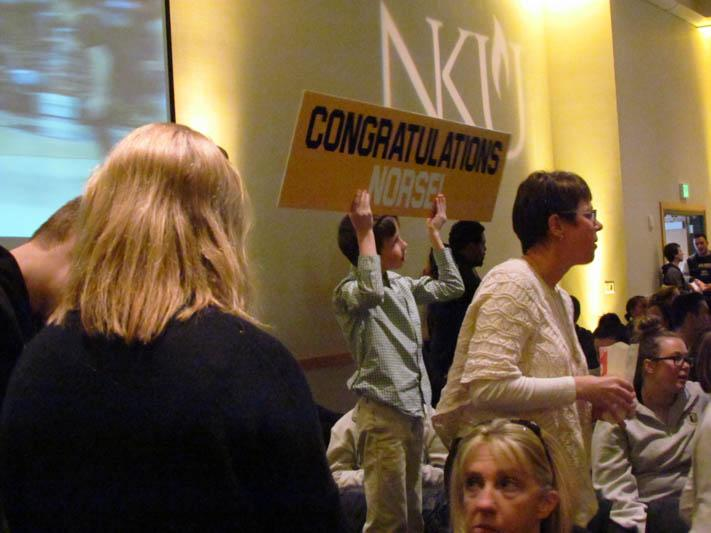 A+young+Norse+fan+holds+up+a+sign+prior+to+the+Selection+Show.