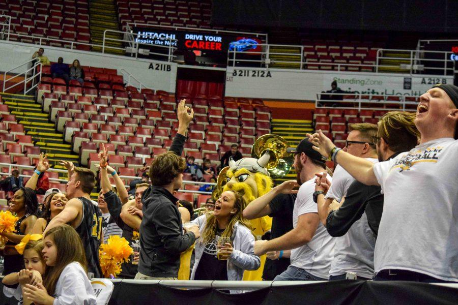 The NKU student section is fired up during the Horizon League championship game against Milwaukee.