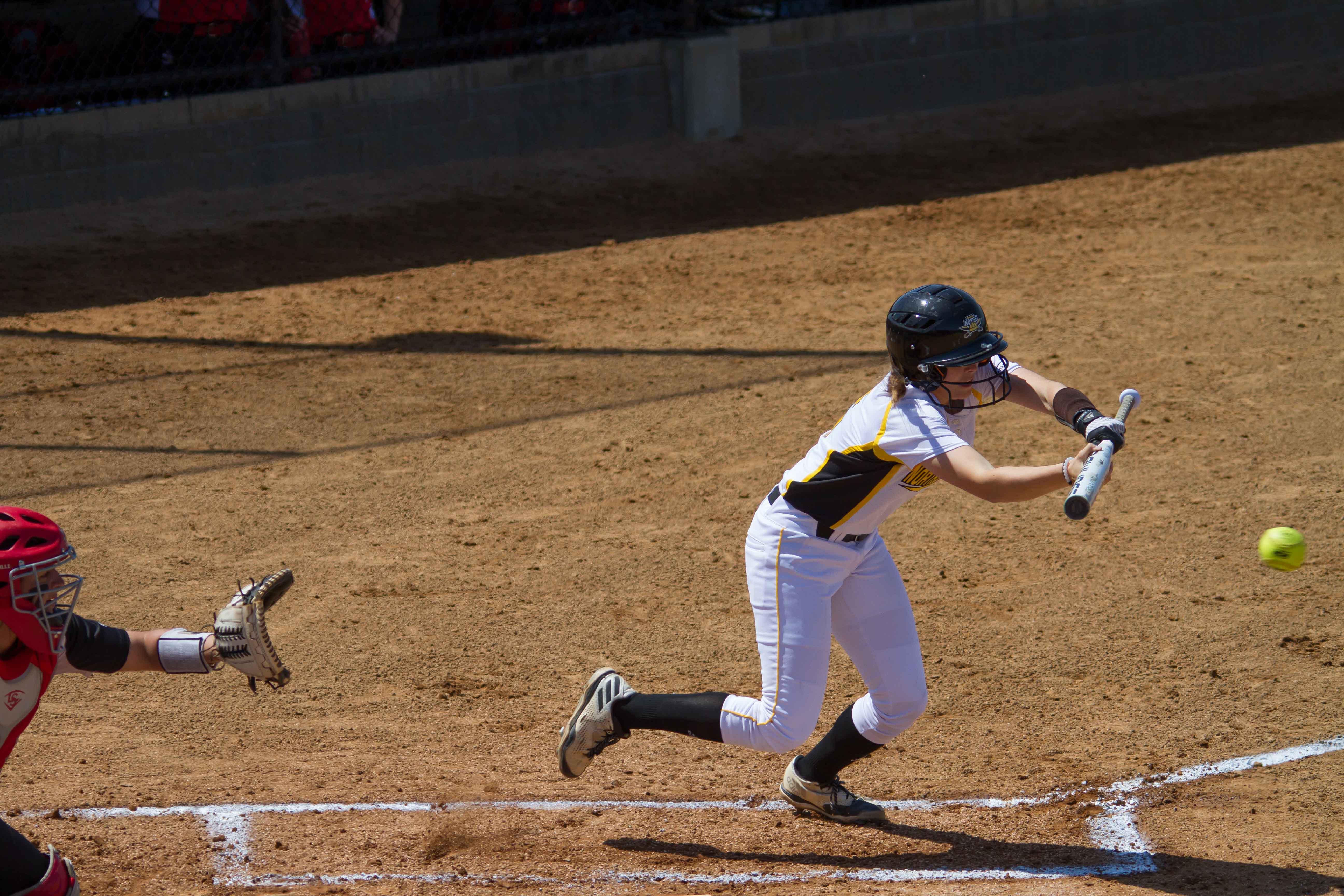 Toree Stalter lays down a bunt against Yougnstown State