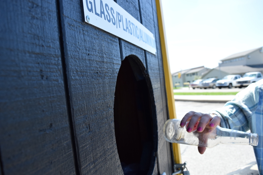 Though recycling centers are on campus, Phinney said that the campus as an unit could be recycling more than they are.