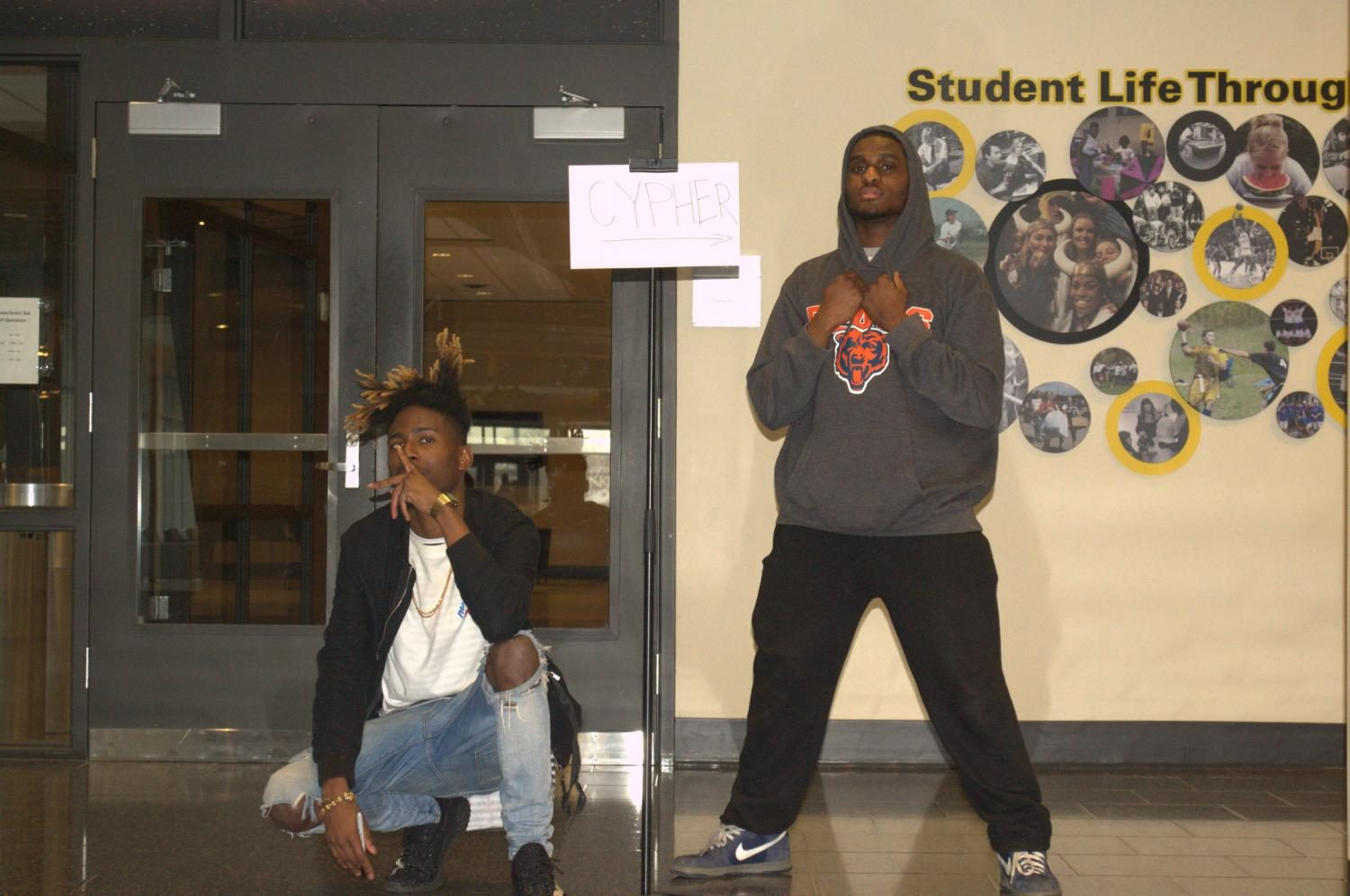 TJ Rosewood and Malik Washington started cypher events at NKU, where lyricists can take turns improvising as beats play in the background.