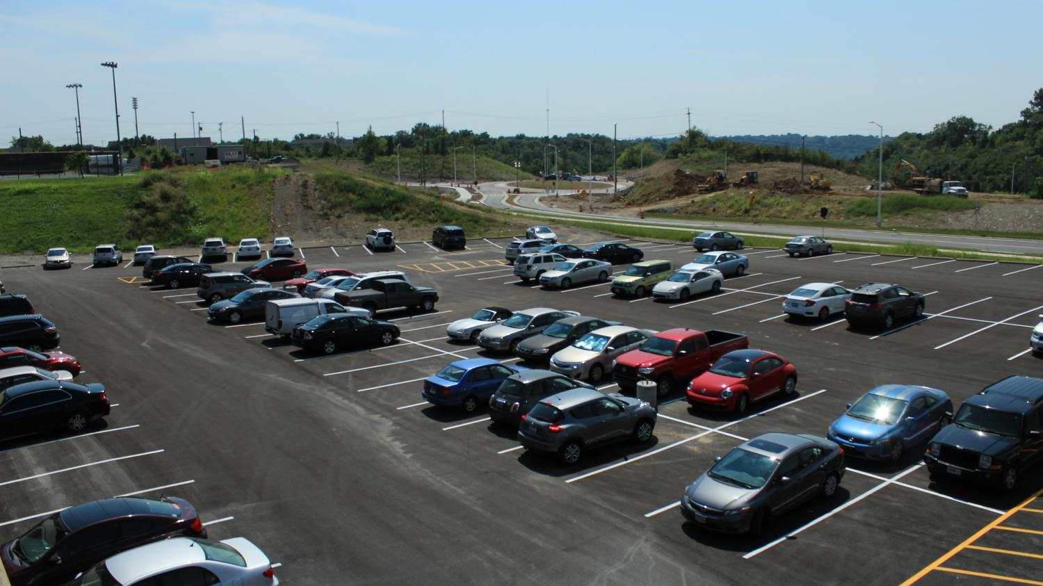 Lot K is open after being redone while North Connector Road is partially open.